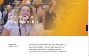 Screenshot website 100 dagen, 100 banen