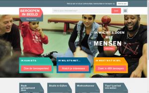 Screenshot website Beroepen in beeld