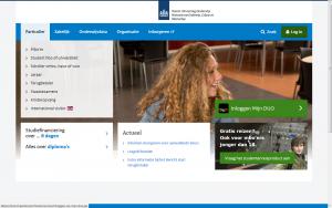 Screenshot website DUO