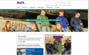 Screenshot website Halt