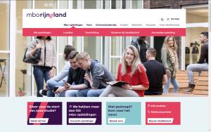 Screenshot website MBO Rijnland