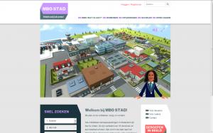 Screenshot website MBO Stad
