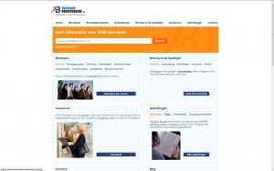 Screenshot website Nationale Beroepengids