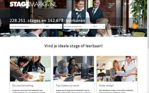 Screenshot website Stagemarkt