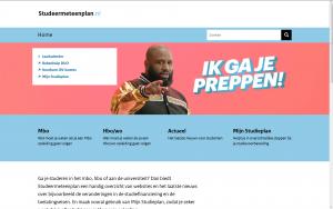 Screenshot website Studeer met een plan